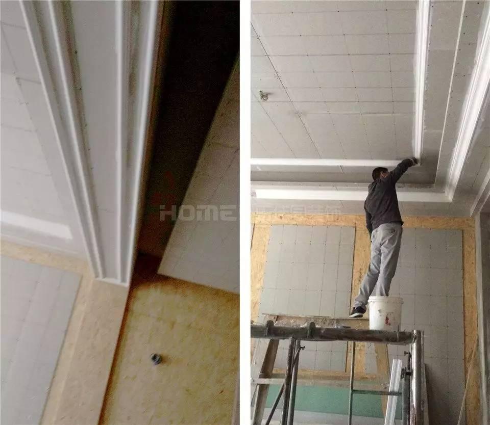 楼梯墙板基层打底.▼   文成隔墙施工▼   防锈膏替代防锈漆,   填补完