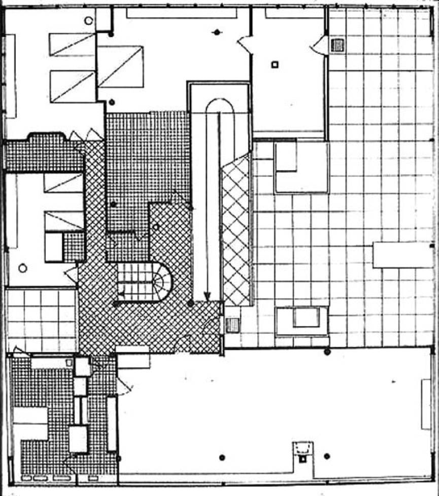 柯布西耶的萨伏伊别墅平面图