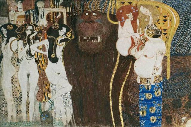 克林姆特亚当和夏娃_对金色与女性情有独钟的画家——克林姆特