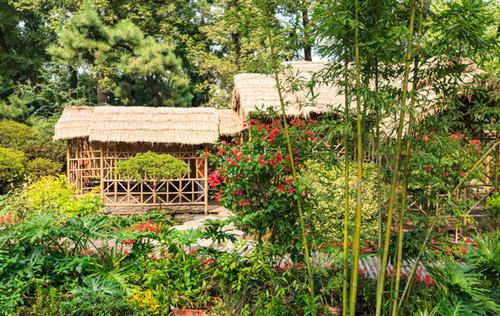 完全可以按照原生态的布局,来设计一个这样的乡村家庭小院,围上木阑珊图片