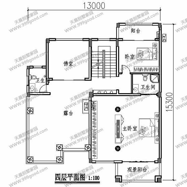 别墅立面图:简约的线条,勾勒出丰富繁杂的造型结构.简单的色彩反