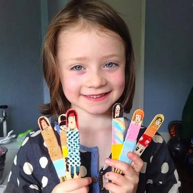 幼儿园亲子手工之冰棍棒,拼贴画等多种雪糕棍玩法