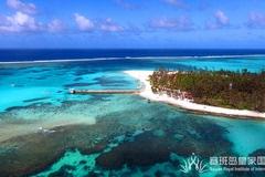 """蓝天白云,蓝色大海,白色浪花,这里是塞班岛!"""""""