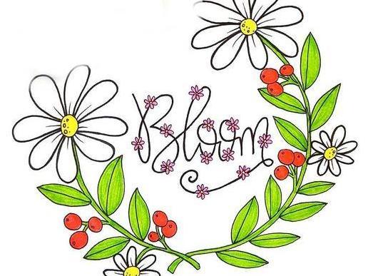 儿童简笔画:春分时节画花园,花卉昆虫的趣味绘画图片