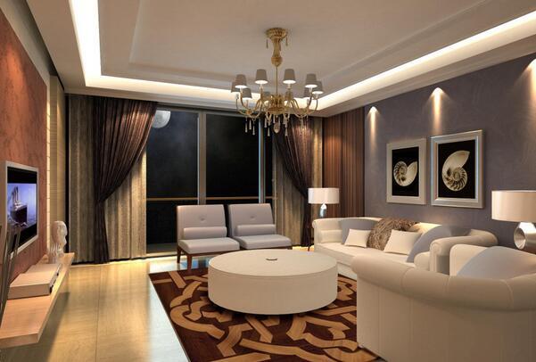 西安家庭装修客厅吊顶该如何设计图片