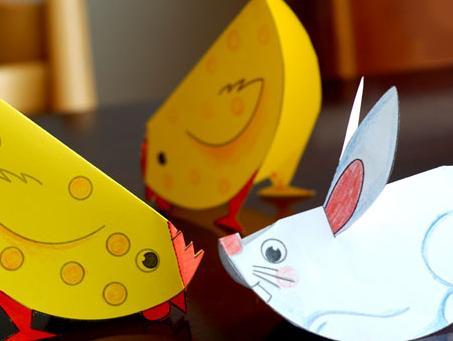 幼儿园亲子手工之动物折纸