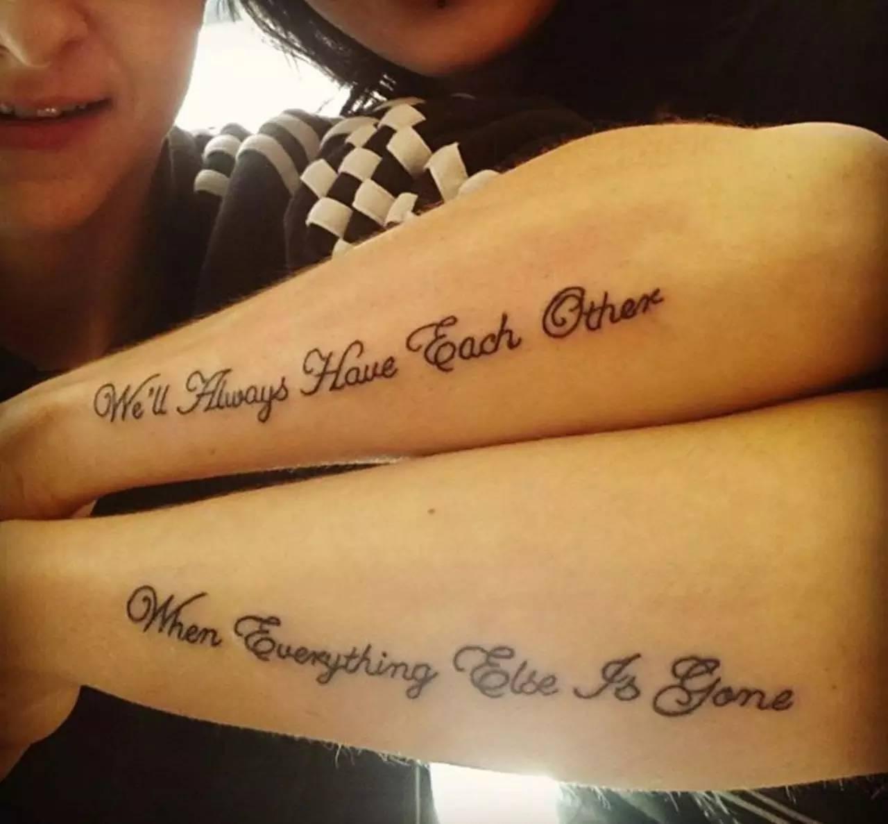 纹身情侣英文小短句图片