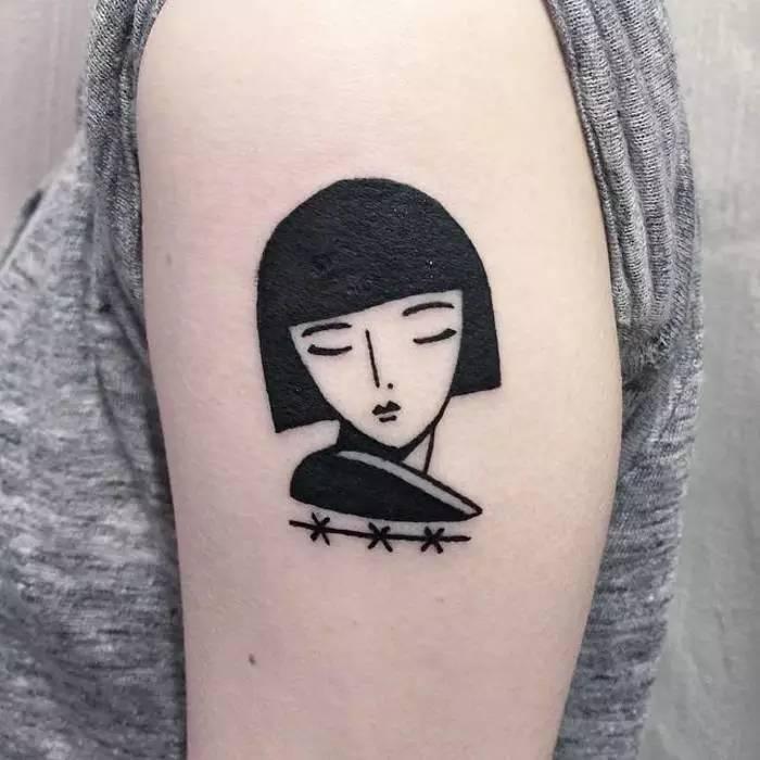 娱乐 正文  除非你想让你的纹身像水彩笔画上的一样 [  性冷淡风纹身]