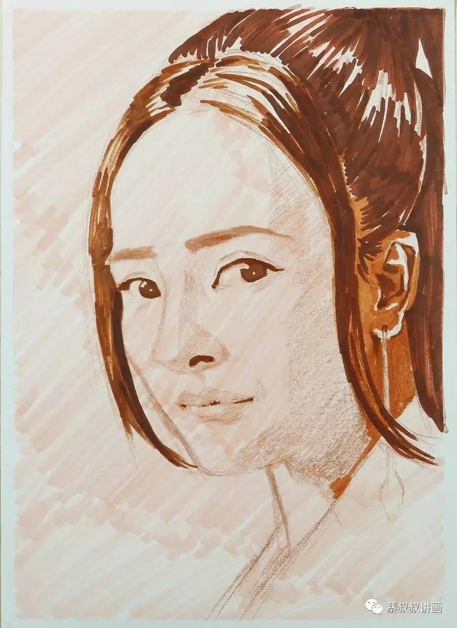 彩铅画人物:三生三世十里桃花——白浅