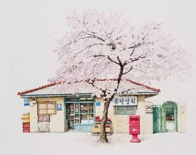这些美丽的手绘杂货店,让你找回童年的回忆