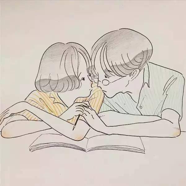 手绘爱情小清新简笔画