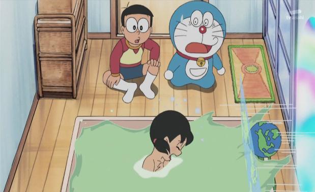 哆啦a梦里这一整集都在讲静香洗澡
