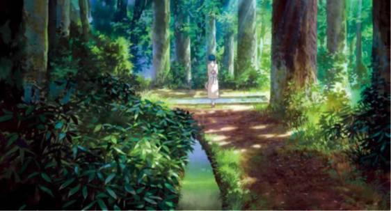《起风了》剧照,宫崎骏,2013 年.森林里的菜穗子.吉卜力工作室.图片