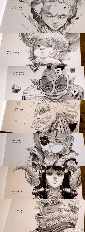 原创动漫手账——来自法国插画家coliandre手绘