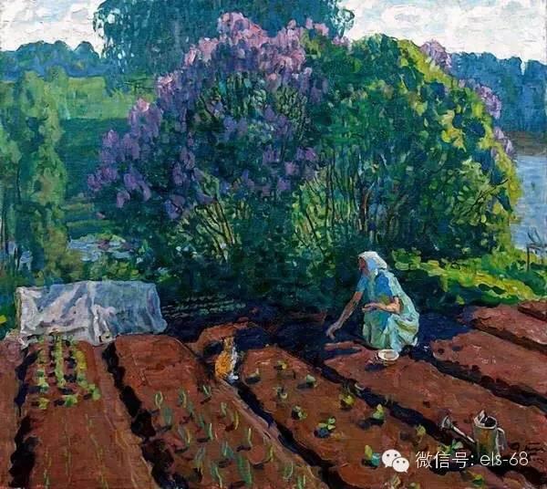 色彩淡雅,阳光明媚,在俄罗斯春季昼长夜短,也是风景画家最喜欢写生的图片