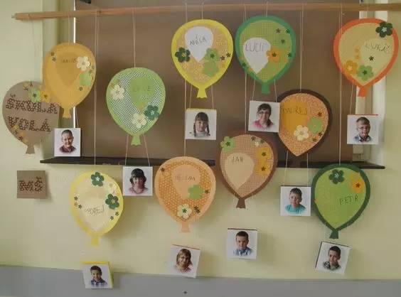 幼儿园照片墙的巧妙设计—留住孩子最美的瞬间图片