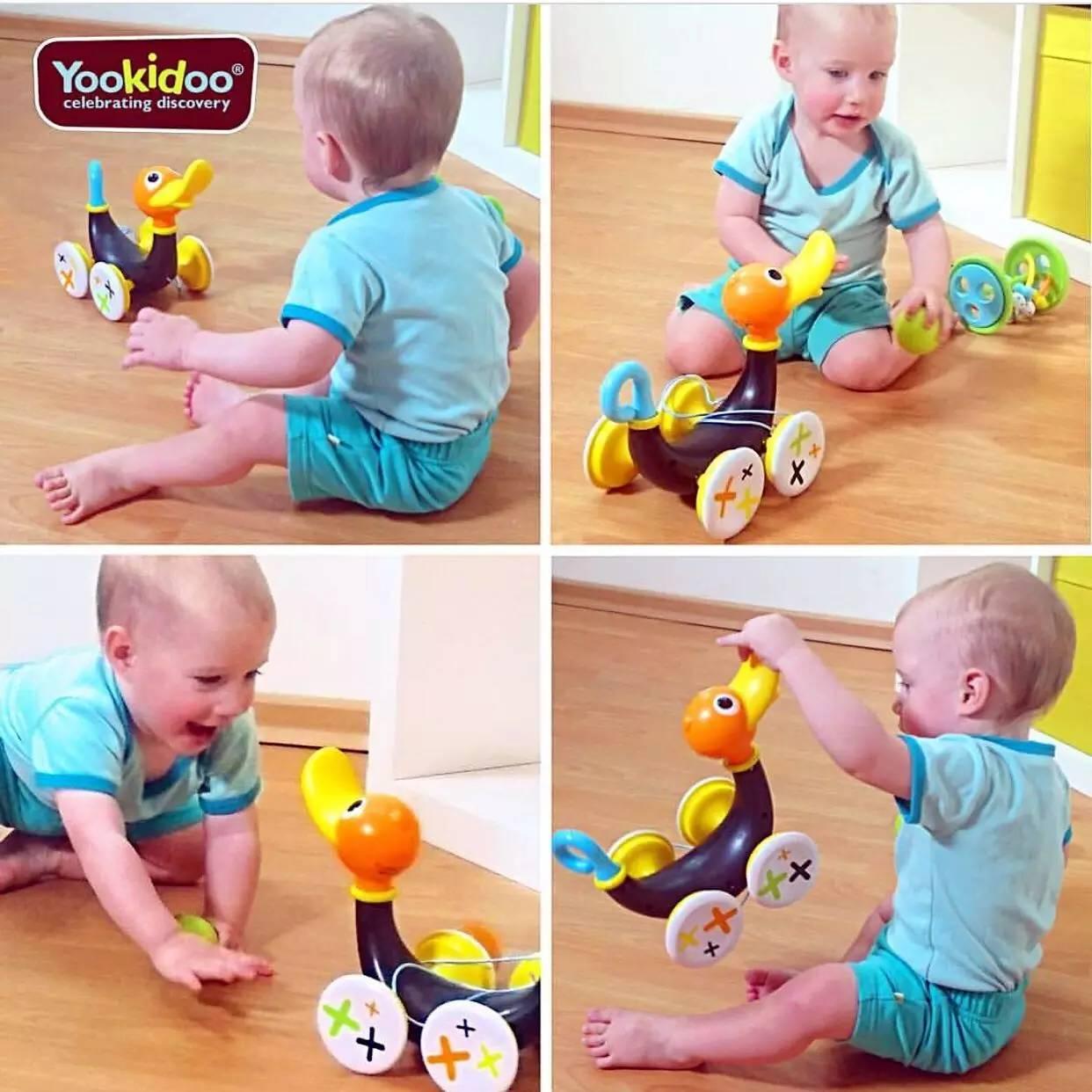 玩具团 美国幼奇多yookidoo音乐拉绳鸭,多种玩法,训练宝宝感统协调 发展精细运动