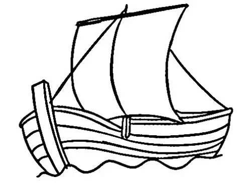 儿童简笔画:海上轮船帆船等各种画法等你来挑战!图片