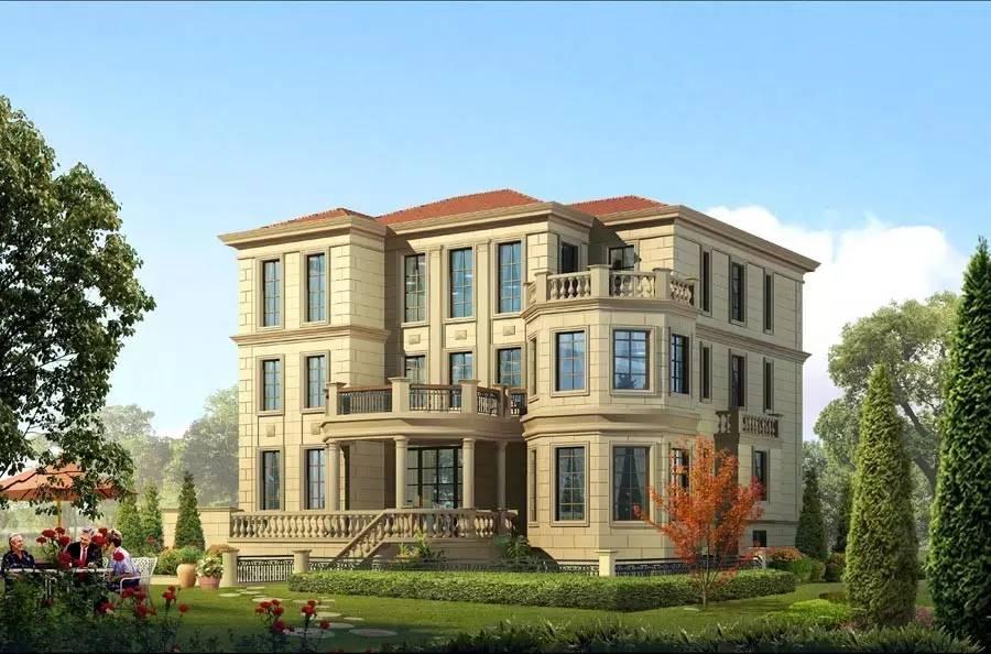 农村四层楼房设计图 四层别墅设计 有车库带门面