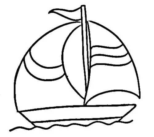 儿童简笔画 海上轮船帆船等各种画法等你来挑战
