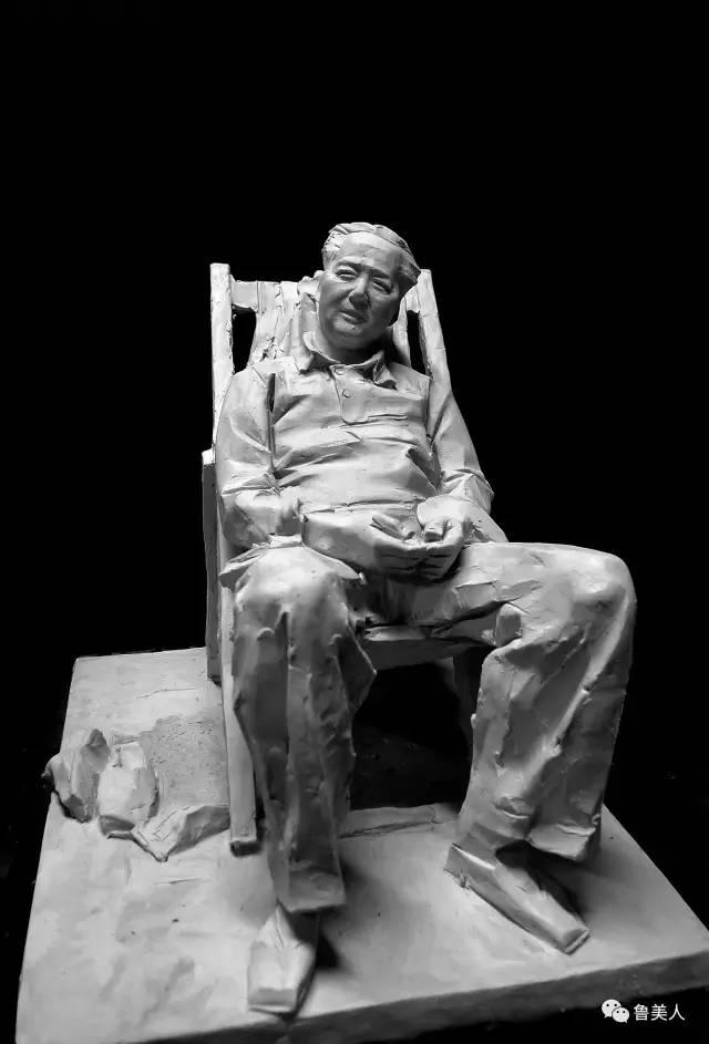 老年毛泽东铸铜雕塑