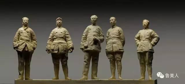 抗战领袖铸铜人物雕塑