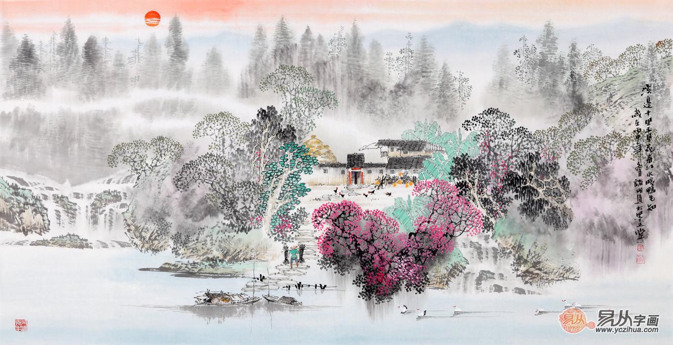 中国画春景 山水画里的最美春天图片