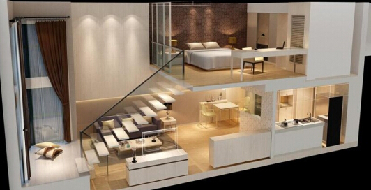loft公寓装修设计正确方法因此,一般面积不大或层高较低的loft房间