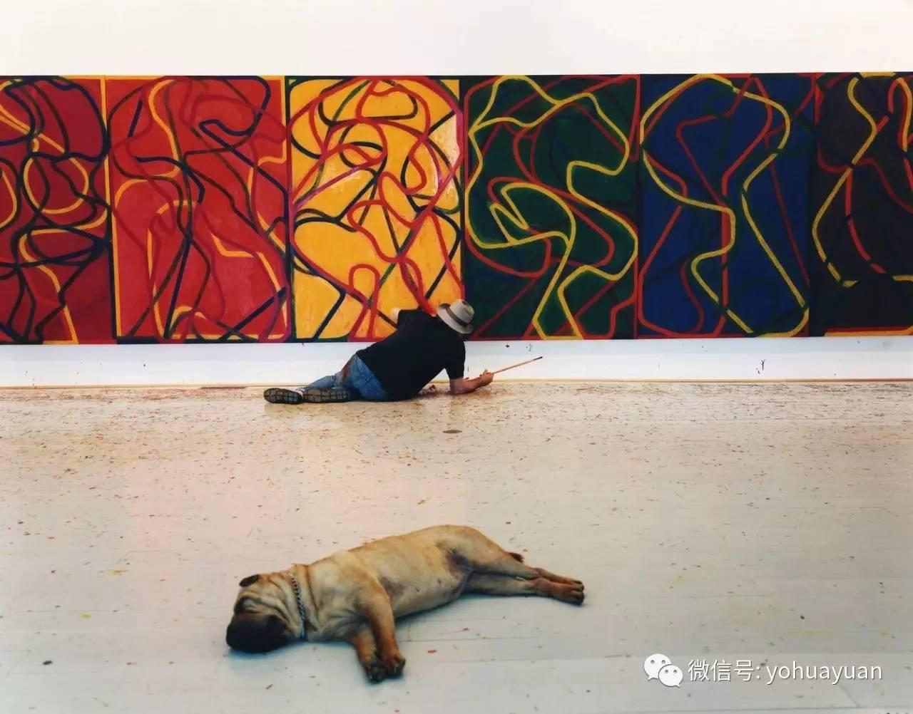 抽象主义作品画-极简抽象表现主义画作