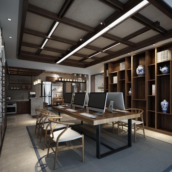 中式风格办公室装修要富有文化内涵图片