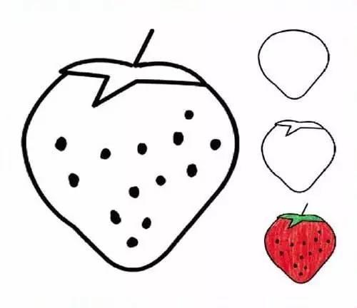 儿童水果简笔画教程,太棒了,一看就会 巧手教育