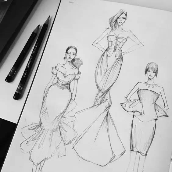 衣服模特架子手绘