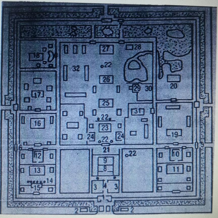 顺化皇宫平面图