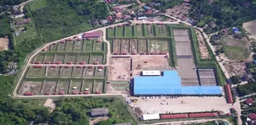 v国际国际体育老挝四五靶场射击场老挝四五国际射击场位建攀岩馆图片
