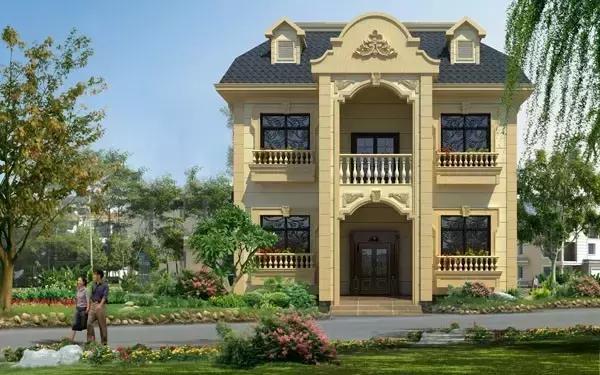 赚了钱,就回老家建这样的房子,简直太美了!图片