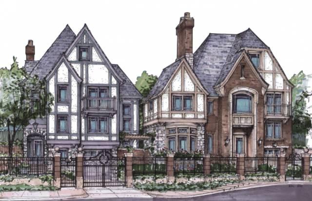 英伦别墅手绘图