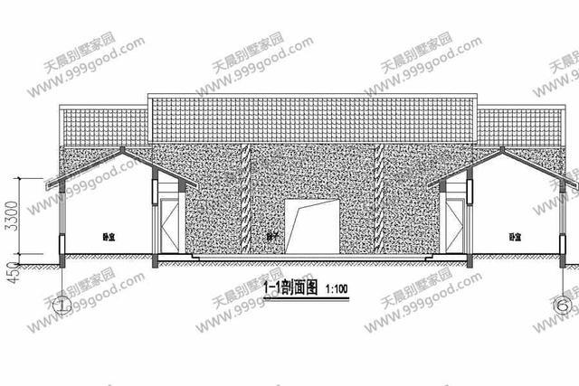 经典农村三合院别墅设计图,新中式堂屋,一层设计图片