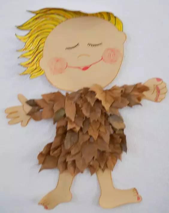幼儿园树叶粘贴画手工,美爆了! | 巧手教育