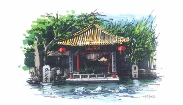 这27张超美的手绘图,带你走遍济南城