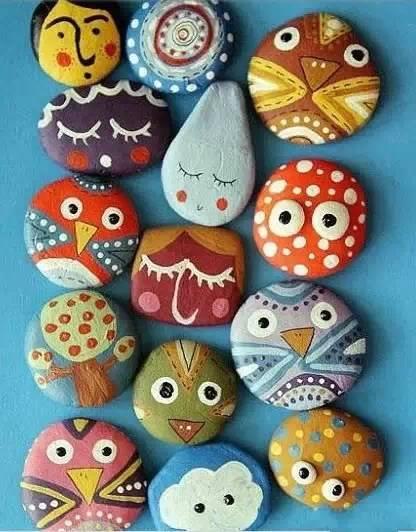 创意石头画