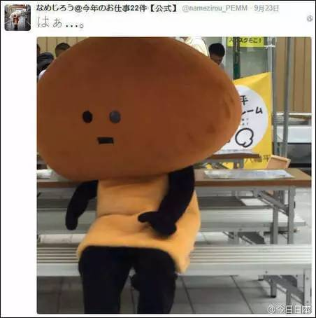 日本奇葩吉祥物滑子菇图片