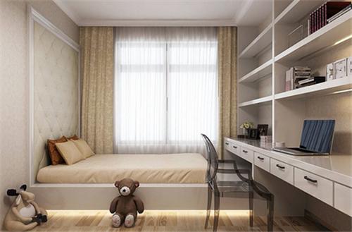 迷你书桌书柜装修效果图 营造文艺范卧室氛围图片
