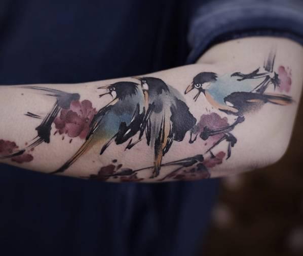 那些奇葩的汉字纹身,这5个纹身师的中国水墨风格纹身帅你一脸图片