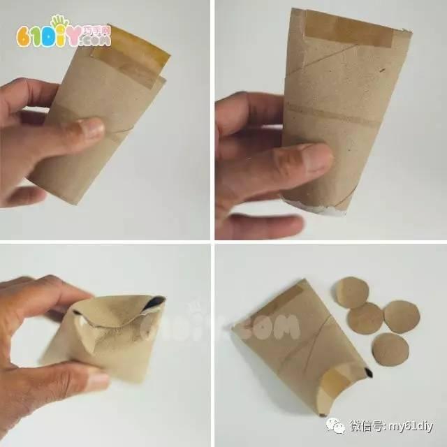 儿童手工制作卷纸筒赛车