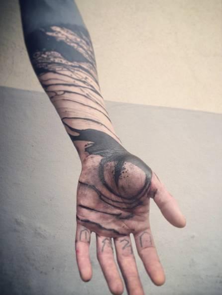 泼墨中国风纹身字分享展示