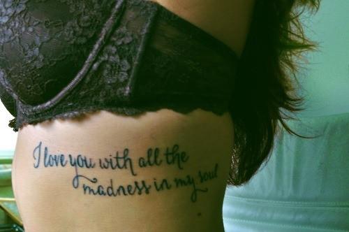 都有哪些适合纹身的小句子!字母刺青