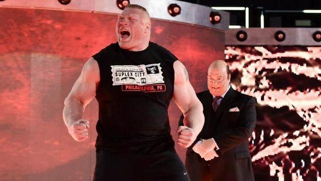 WWE 布洛克与战神高柏巅峰对决 这两人谁也不服谁啊