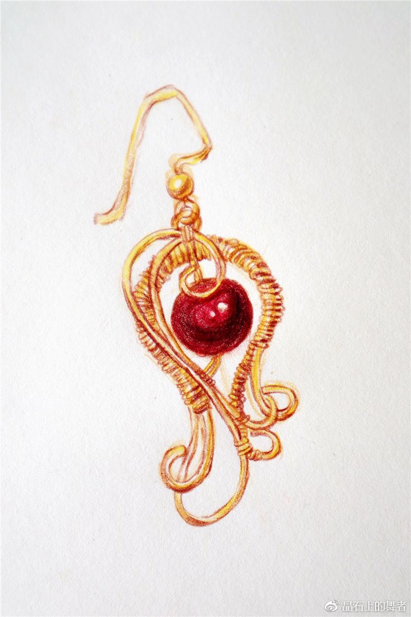 原创设计的水晶珠宝手绘图怎么样