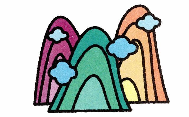 儿童简笔画:十种风景创意画法,展现自然独特风采图片