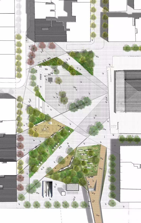案例分享 总平面图 —高校会议中心设计 —居住区规划设计 —小型绿地图片